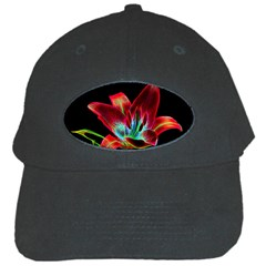 Flower Pattern Design Abstract Background Black Cap