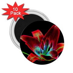 Flower Pattern Design Abstract Background 2 25  Magnets (10 Pack)