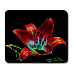 Flower Pattern Design Abstract Background Large Mousepads