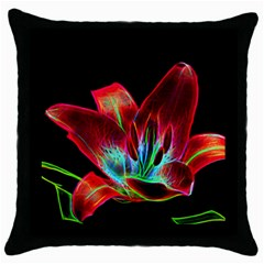 Flower Pattern Design Abstract Background Throw Pillow Case (black)