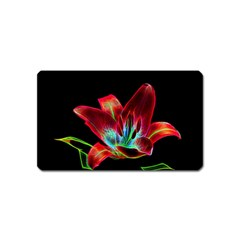Flower Pattern Design Abstract Background Magnet (name Card)