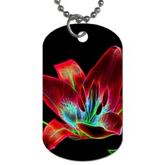 Flower Pattern Design Abstract Background Dog Tag (one Side)