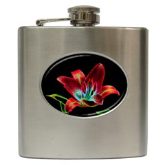 Flower Pattern Design Abstract Background Hip Flask (6 Oz)