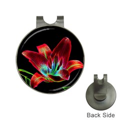 Flower Pattern Design Abstract Background Hat Clips With Golf Markers