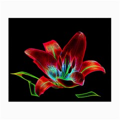 Flower Pattern Design Abstract Background Small Glasses Cloth