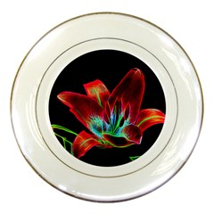 Flower Pattern Design Abstract Background Porcelain Plates