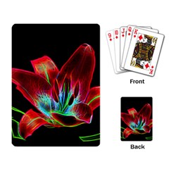Flower Pattern Design Abstract Background Playing Card
