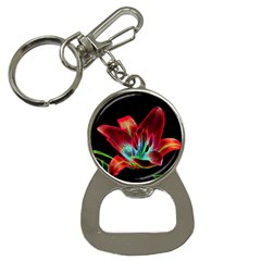 Flower Pattern Design Abstract Background Button Necklaces