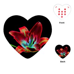 Flower Pattern Design Abstract Background Playing Cards (heart)