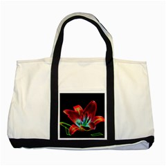 Flower Pattern Design Abstract Background Two Tone Tote Bag