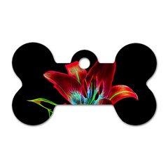Flower Pattern Design Abstract Background Dog Tag Bone (one Side)