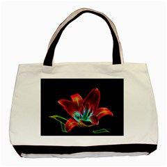 Flower Pattern Design Abstract Background Basic Tote Bag (Two Sides)