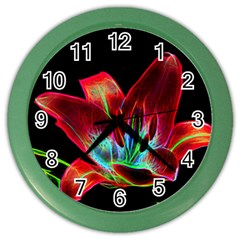 Flower Pattern Design Abstract Background Color Wall Clocks
