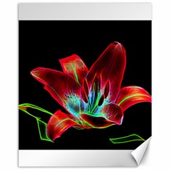 Flower Pattern Design Abstract Background Canvas 11  X 14