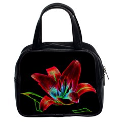 Flower Pattern Design Abstract Background Classic Handbags (2 Sides)