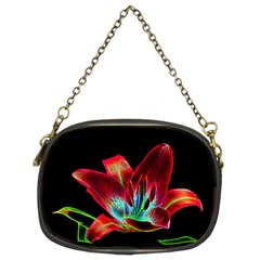 Flower Pattern Design Abstract Background Chain Purses (two Sides)