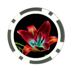 Flower Pattern Design Abstract Background Poker Chip Card Guard (10 Pack)