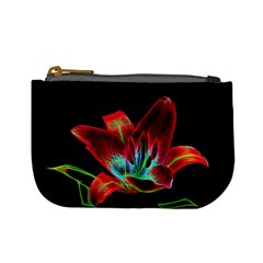 Flower Pattern Design Abstract Background Mini Coin Purses