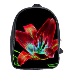 Flower Pattern Design Abstract Background School Bags(large)
