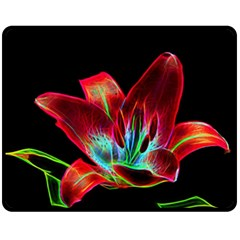 Flower Pattern Design Abstract Background Fleece Blanket (medium)