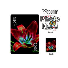 Flower Pattern Design Abstract Background Playing Cards 54 (mini)