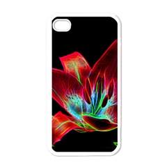 Flower Pattern Design Abstract Background Apple Iphone 4 Case (white)