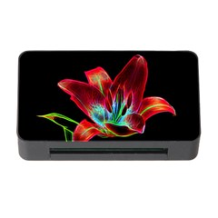 Flower Pattern Design Abstract Background Memory Card Reader With Cf