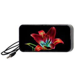 Flower Pattern Design Abstract Background Portable Speaker (black)