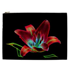 Flower Pattern Design Abstract Background Cosmetic Bag (xxl)