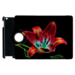 Flower Pattern Design Abstract Background Apple Ipad 2 Flip 360 Case