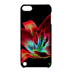 Flower Pattern Design Abstract Background Apple Ipod Touch 5 Hardshell Case With Stand