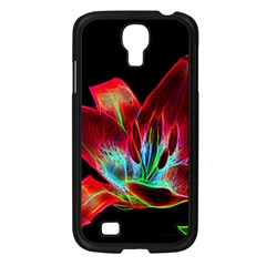 Flower Pattern Design Abstract Background Samsung Galaxy S4 I9500/ I9505 Case (black)