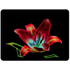 Flower Pattern Design Abstract Background Double Sided Fleece Blanket (large)