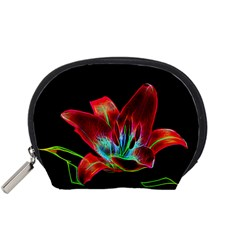 Flower Pattern Design Abstract Background Accessory Pouches (small)