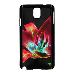 Flower Pattern Design Abstract Background Samsung Galaxy Note 3 Neo Hardshell Case (black)