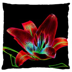 Flower Pattern Design Abstract Background Large Flano Cushion Case (two Sides)
