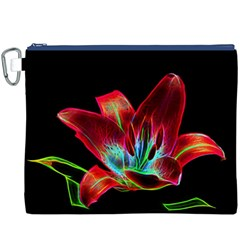 Flower Pattern Design Abstract Background Canvas Cosmetic Bag (xxxl)