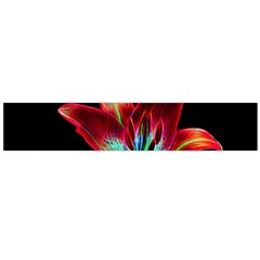 Flower Pattern Design Abstract Background Flano Scarf (Large)