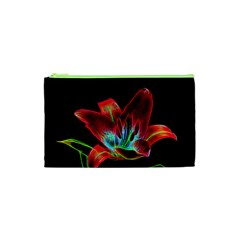 Flower Pattern Design Abstract Background Cosmetic Bag (xs)
