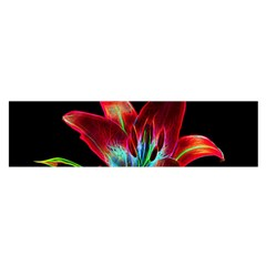 Flower Pattern Design Abstract Background Satin Scarf (oblong)