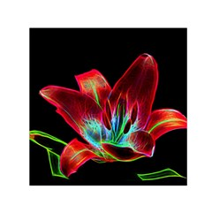 Flower Pattern Design Abstract Background Small Satin Scarf (square)