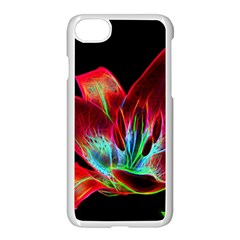 Flower Pattern Design Abstract Background Apple Iphone 7 Seamless Case (white)