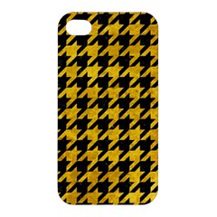 Houndstooth1 Black Marble & Yellow Marble Apple Iphone 4/4s Premium Hardshell Case