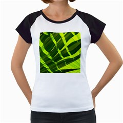 Frond Leaves Tropical Nature Plant Women s Cap Sleeve T