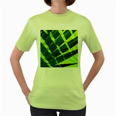 Frond Leaves Tropical Nature Plant Women s Green T Shirt