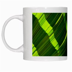 Frond Leaves Tropical Nature Plant White Mugs