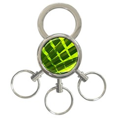 Frond Leaves Tropical Nature Plant 3 Ring Key Chains