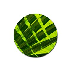 Frond Leaves Tropical Nature Plant Rubber Coaster (round)