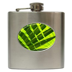 Frond Leaves Tropical Nature Plant Hip Flask (6 Oz)