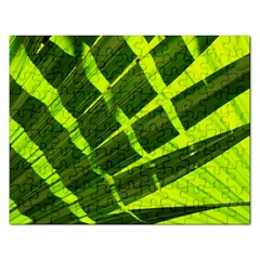 Frond Leaves Tropical Nature Plant Rectangular Jigsaw Puzzl